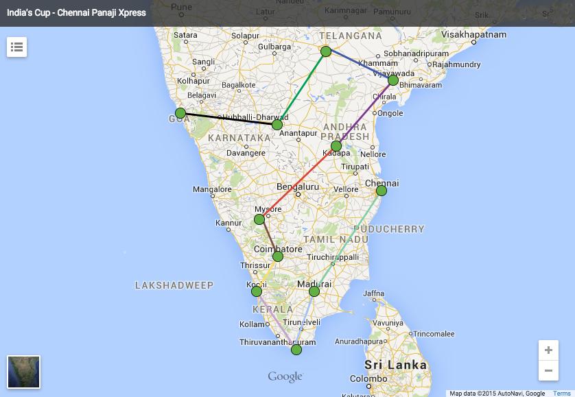 Chennai to Panaji