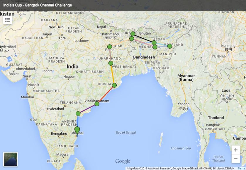 Gangtok to Chennai